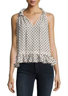 Rebecca Taylor Sleeveless Box Clip Top