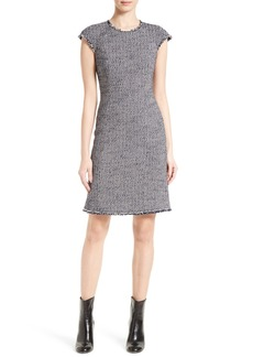 Rebecca Taylor Sleeveless Confetti Tweed Dress