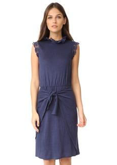 Rebecca Taylor Sleeveless Crochet Jersey Dress