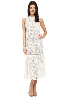 Rebecca Taylor Sleeveless Crochet Lace Dress