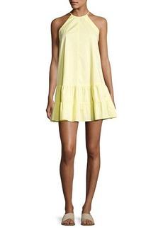 Rebecca Taylor Sleeveless Drop-Waist Halter Tank Dress