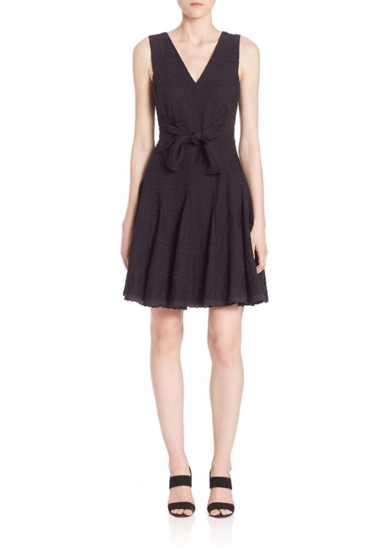Rebecca Taylor Sleeveless Embroidered Gauze Dress