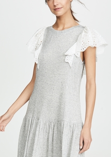 Rebecca Taylor Sleeveless Eyelet Jersey Dress
