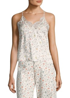 Rebecca Taylor Sleeveless Floral Vine Lace Cami