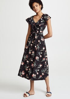 Rebecca Taylor Sleeveless Ikat Midi Dress