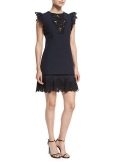 Rebecca Taylor Sleeveless Lace A-Line Mini Dress
