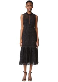 Rebecca Taylor Sleeveless Lace Crochet Dress