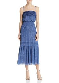 Rebecca Taylor Metallic-Stripe Midi Dress