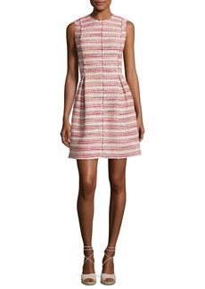 Rebecca Taylor Sleeveless Optic Tweed Mini Dress