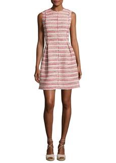 Rebecca Taylor Sleeveless Optic Tweed Mini Dress