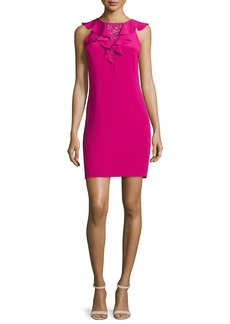 Rebecca Taylor Sleeveless Ruffed-Front Cocktail Dress