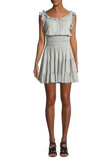 Rebecca Taylor Sleeveless Ruffle Jersey Dress