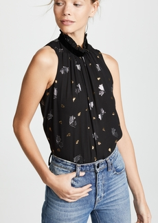 Rebecca Taylor Sleeveless Scattered Tulip Top