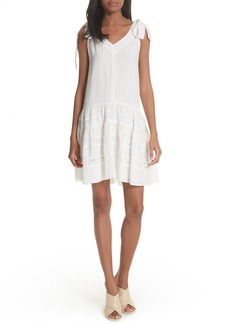 Rebecca Taylor Sleeveless Silk & Lace Dress