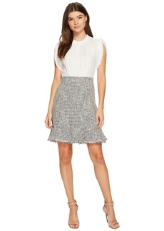 Rebecca Taylor Sleeveless Silk & Tweed Dress