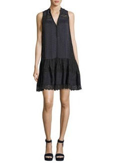 Rebecca Taylor Sleeveless Silk Stripe Dress