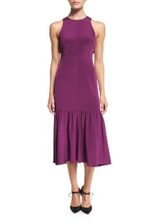 Rebecca Taylor Sleeveless Smocked Midi Dress