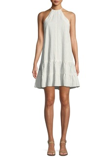 Rebecca Taylor Sleeveless Stripe Cotton Tank Dress
