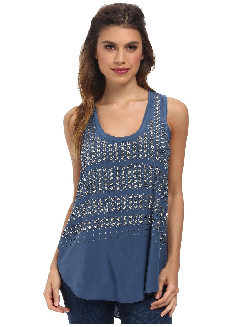 Rebecca Taylor Sleeveless Studded Tank Top