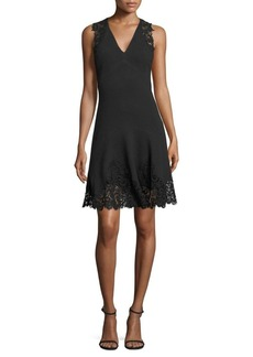 Rebecca Taylor Sleeveless Textured Lace Dress