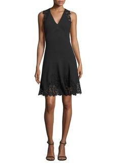 Rebecca Taylor Sleeveless Textured Lace Dress
