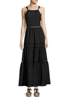 Rebecca Taylor Sleeveless Textured Maxi Dress