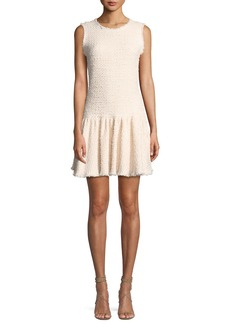 Rebecca Taylor Sleeveless Tweed Mini Dress