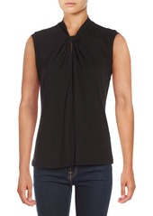 Rebecca Taylor Sleeveless Twisted-Neck Top