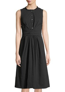 Rebecca Taylor Sleeveless Wrapped Midi Dress