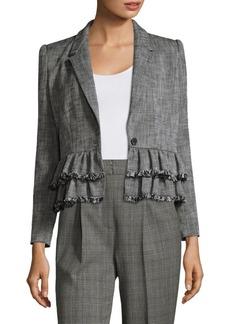 Rebecca Taylor Slub Suit Jacket
