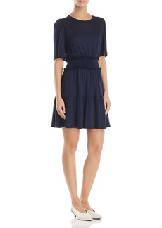 Rebecca Taylor Smocked Jersey Dress