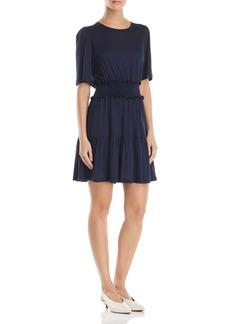 Rebecca Taylor Smocked Jersey Dress