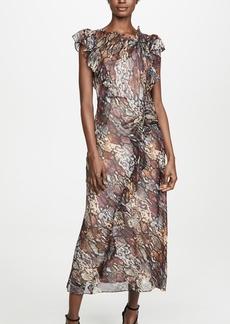 Rebecca Taylor Snake Ruffle Dress