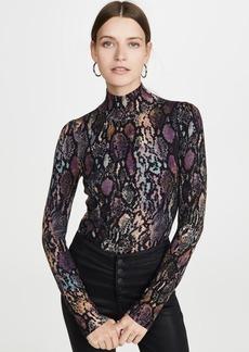 Rebecca Taylor Snake Turtleneck Pullover