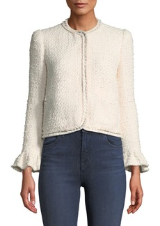Rebecca Taylor Snap-Front Tweed Jacket