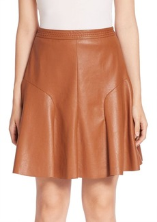 Rebecca Taylor Solid Flared Skirt