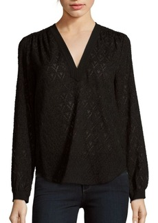 Rebecca Taylor Solid Silk-Blend Blouse