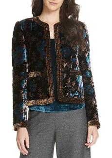 Rebecca Taylor Solstice Quilted Velvet Jacket