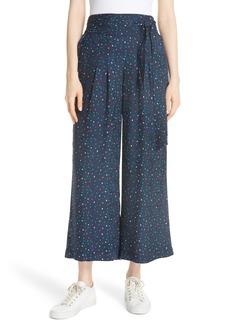 Rebecca Taylor Speckled Dot Silk Pants