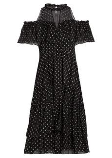 Rebecca Taylor Spot fil coupé silk-blend chiffon dress