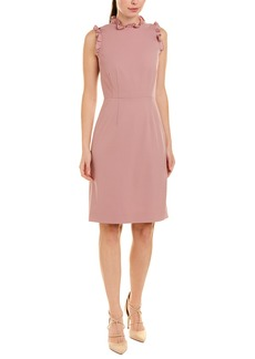 Rebecca Taylor Spring Ruffle Wool-Blend Sheath Dress