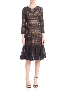 Rebecca Taylor Stained Glass Lace Dress