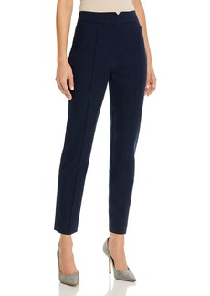Rebecca Taylor Straight-Leg Notched-Front Ankle Pants