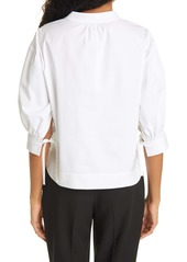 Rebecca Taylor Stretch Cotton Twill Blouse
