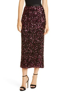 Rebecca Taylor Stretch Sequin Skirt
