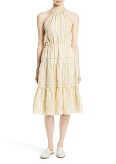Rebecca Taylor Stripe Halter Dress