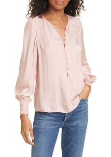Rebecca Taylor Stripe Jacquard Silk Blend Blouse