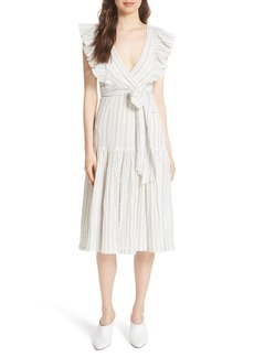 Rebecca Taylor Stripe Midi Dress