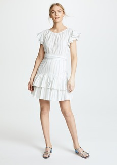Rebecca Taylor Stripe Ruffle Dress