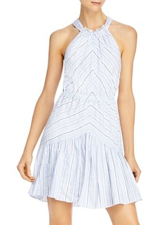 Rebecca Taylor Striped Cotton & Linen Dress